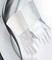 white welding gloves