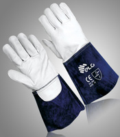 Welding gloves with pulse protection